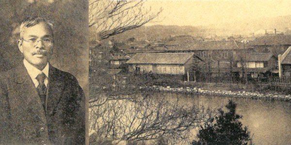 黎明期の吹揚校舎と学園創立者 玉井高助先生