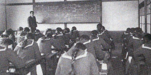昭和8年数学のテスト風景